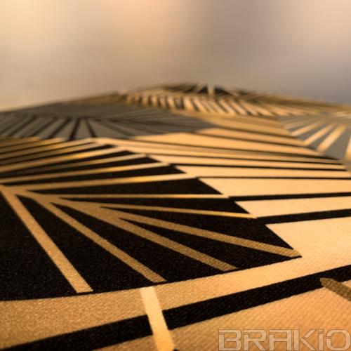 tabouret en métal et tissu velours artisanal